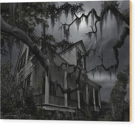 Midnight In The House Wood Print
