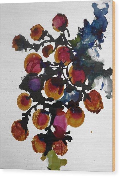 Midnight Magiic Bloom-1 Wood Print