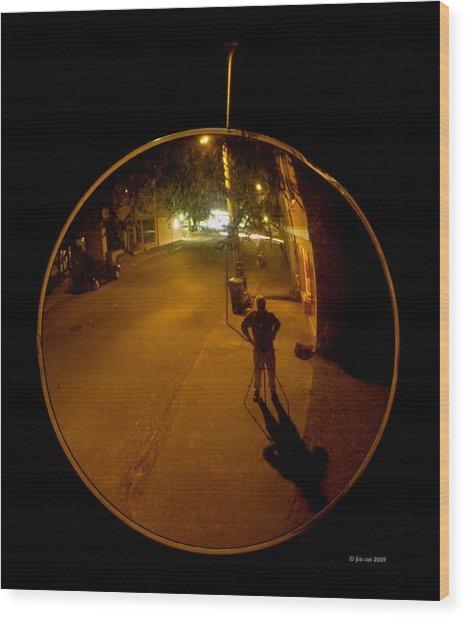 Midnight Mirror Wood Print by Jim Coe