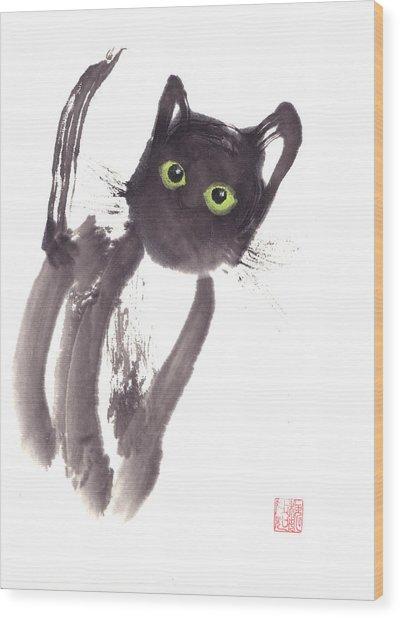 Midnight Wood Print by Mui-Joo Wee