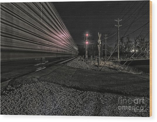 Midnight Rider Ir Wood Print