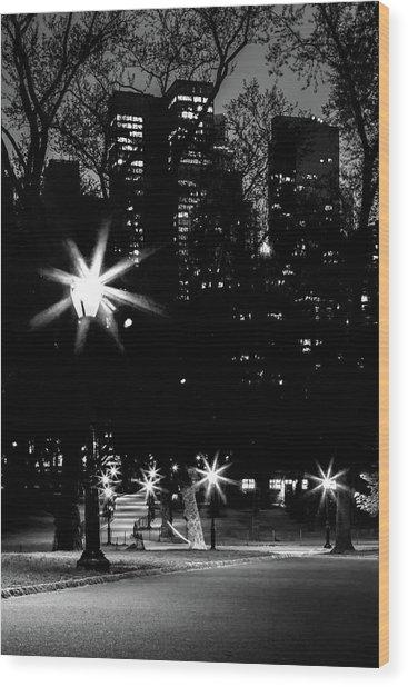 Midnight Strolls Wood Print