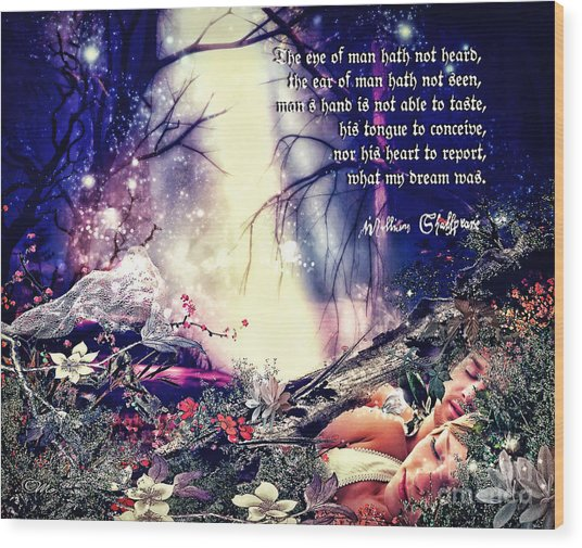 Midsummer Night Dream Wood Print