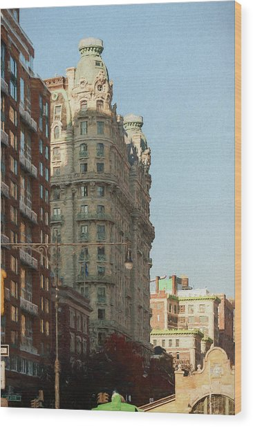 Midtown Manhattan Apartments Wood Print