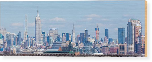 Midtown Manhattan Skyline Wood Print by Erin Cadigan