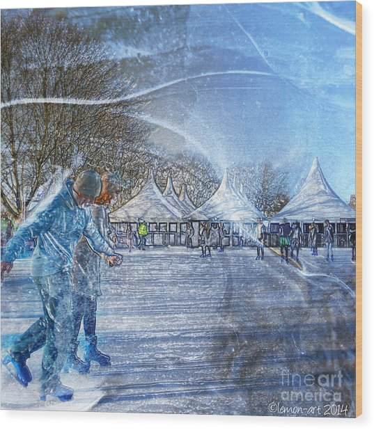 Midwinter Blues Wood Print