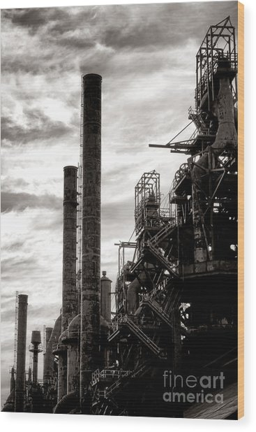 Mighty Bethlehem Steel Wood Print