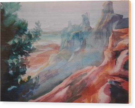 Mighty Canyon Wood Print
