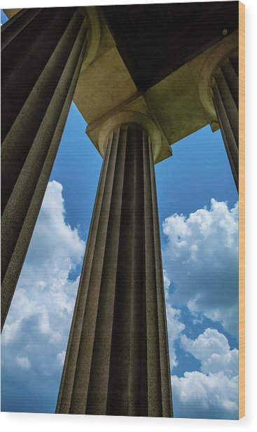 Mighty Columns  Wood Print