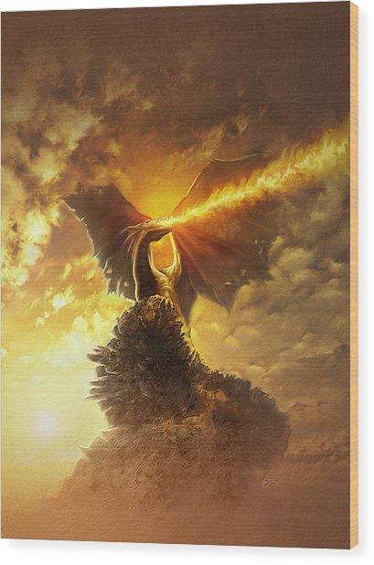 Mighty Dragon Wood Print