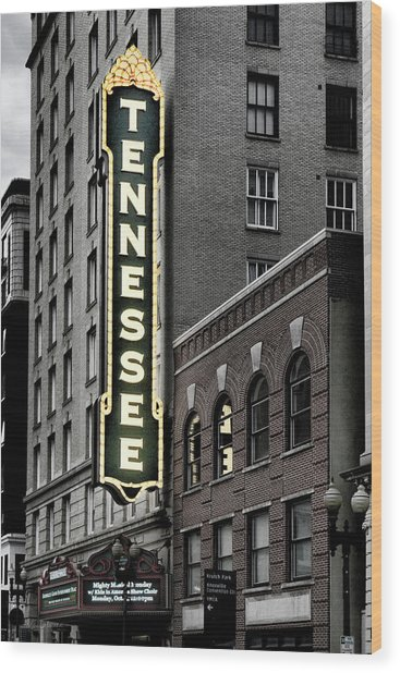 Mighty Tennessee Wood Print
