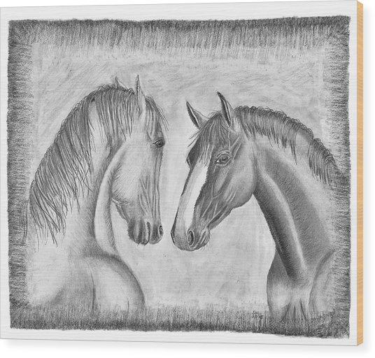 Mighty Vs Gentle Wood Print
