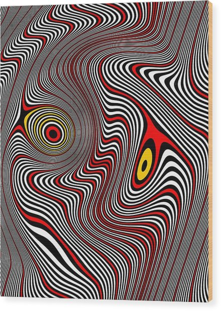 Migraine Aura Wood Print