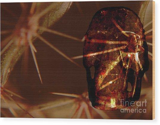 Migraine - The Pierced Skull Wood Print