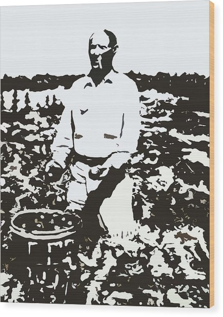 Migrant Farmer Wood Print