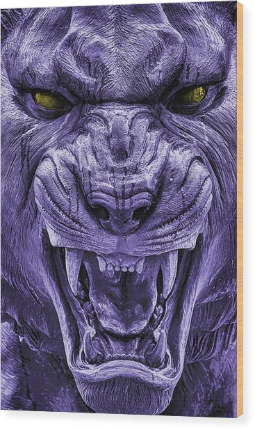 Mike In Purple And Gold Wood Print by JC Findley