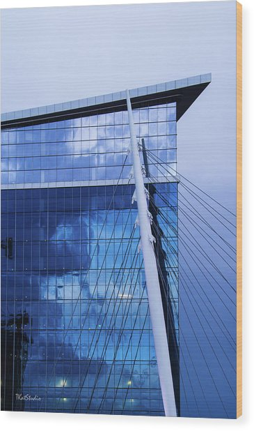 Milennium Bridge Spire Wood Print