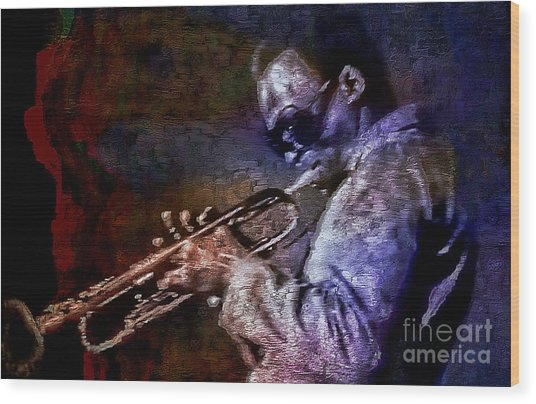 Miles Davis Jazz Legend 1969 Wood Print