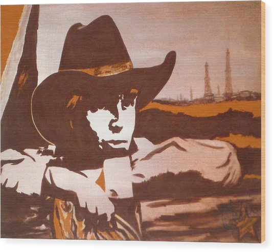 Miles Of Texas Wood Print