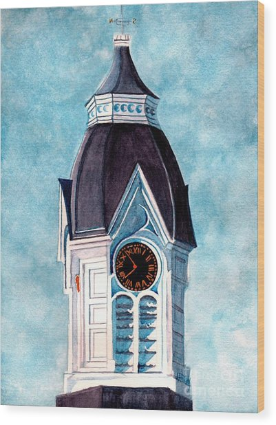 Milford Clock Tower Wood Print