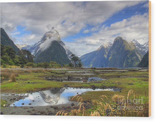 Milford Mirror Wood Print