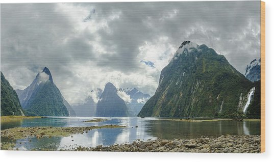 Milford Sound Panorama Wood Print