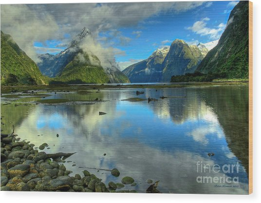 Milford Sound Wood Print