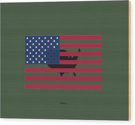 Military Man Wood Print
