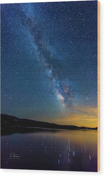 Wood Print featuring the photograph Milky Way 6 by Jim Thompson