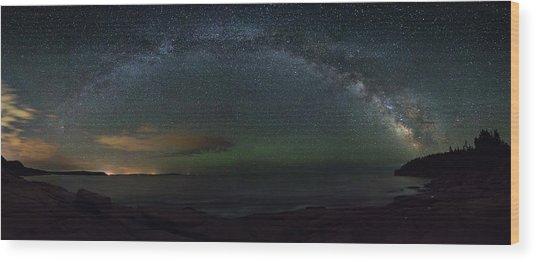 Milky Way Arch Wood Print