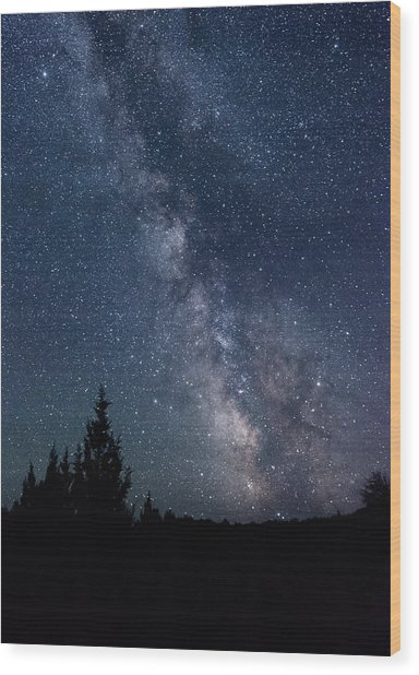 Milky Way At Eastern Oregon Wilderness Wood Print