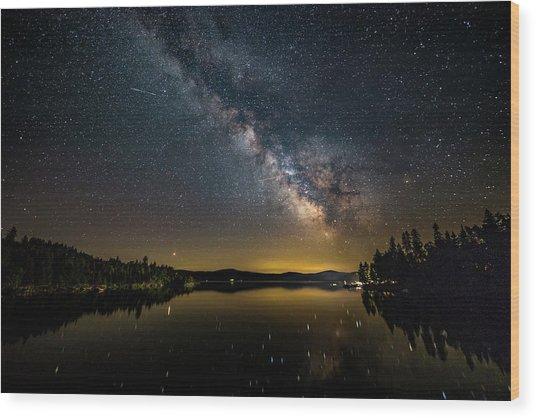 Milky Way At Hunter Cover Wood Print