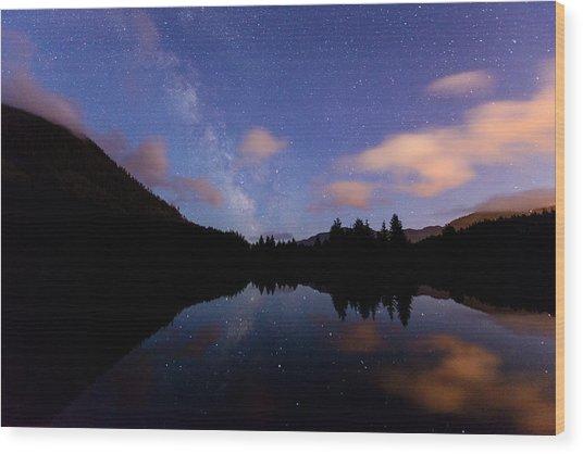 Milky Way At Snoqualmie Pass Wood Print