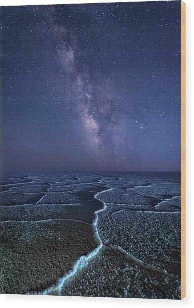 Milky Way At The Salt Flats Wood Print