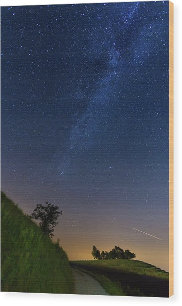 Wood Print featuring the photograph Milky Way by Davor Zerjav