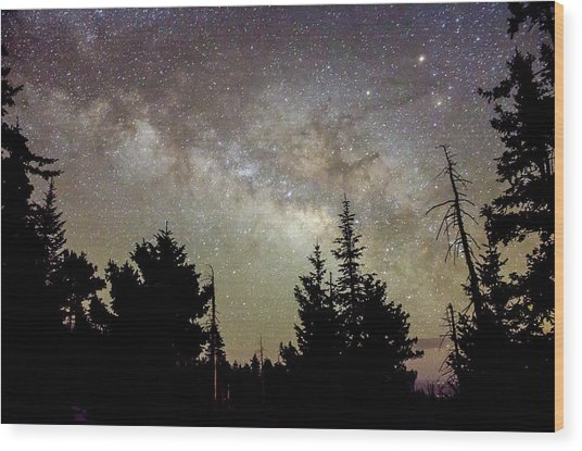 Milky Way From Mt. Graham Wood Print