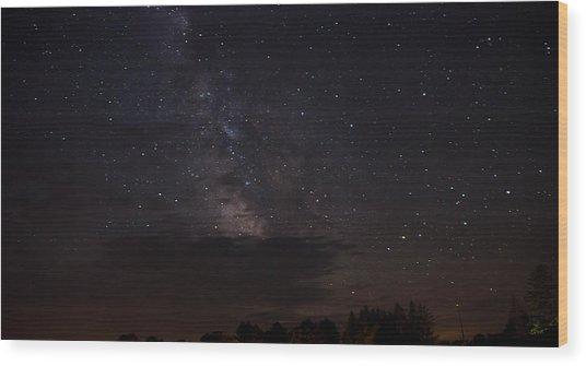 Milky Way Wood Print