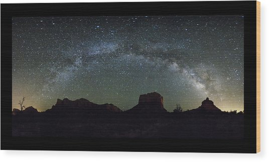 Milky Way Over Bell Wood Print