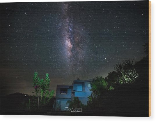 Milky Way Over Casa Angular  Wood Print by Karl Alexander