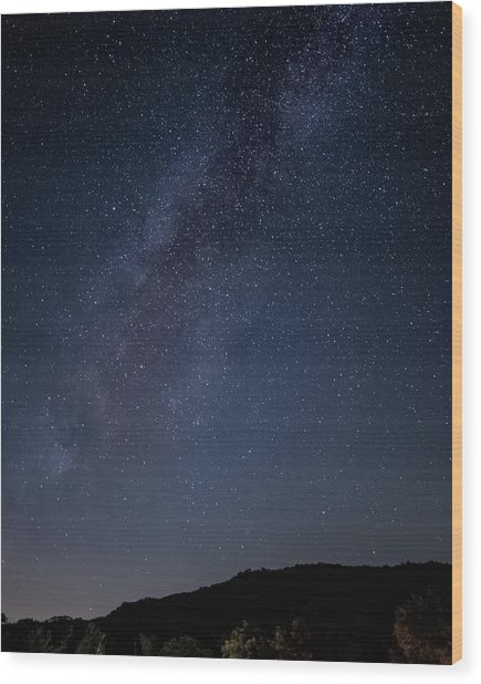 Milky Way Over Lake Henshaw Wood Print