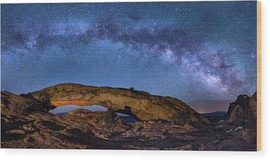 Milky Way Over Mesa Arch Wood Print
