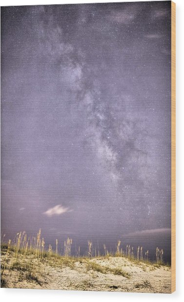 Milky Way Over Pensacola Beach Wood Print by JC Findley