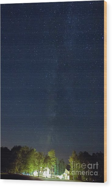 Milky Way Over Vic's Wood Print by Butch Lombardi