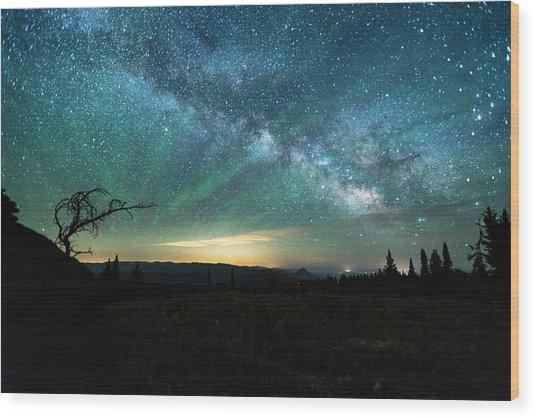 Milky Way Rising Wood Print