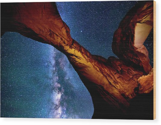 Milkyway At Arches Wood Print