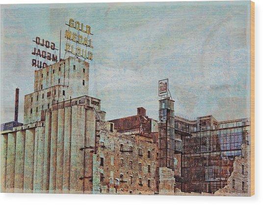 Mill District Minneapolis Wood Print