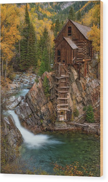 Mill In The Mountains Wood Print