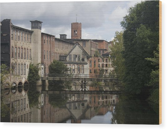Mill Reflection Wood Print by Jeff Porter