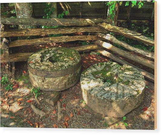 Mill Stones Wood Print