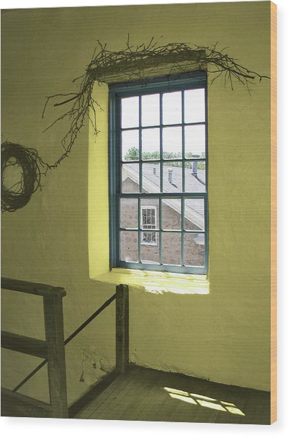 Mill Window Wood Print